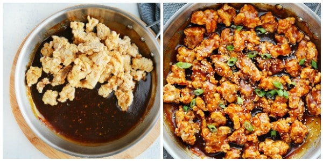 paso 2 salsa tsos general Pollo Tsos general