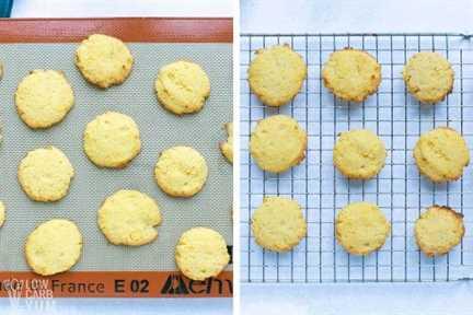 galletas de harina de coco al horno