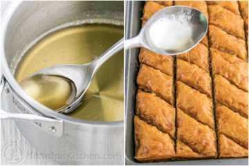 Cómo aplicar jarabe a la receta de Baklava
