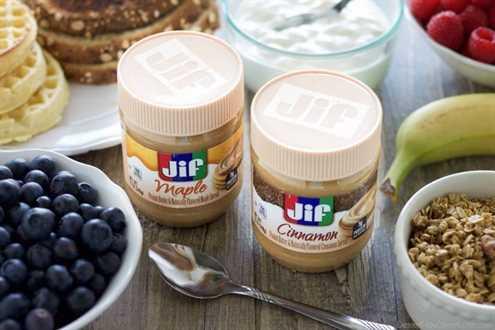 ¡Disfruta de mantequilla de maní para el desayuno y en el camino con Jif! #peanutbutterhappy