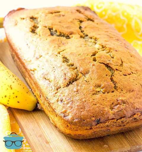 pan entero, pastel de queso relleno de plátanos pan