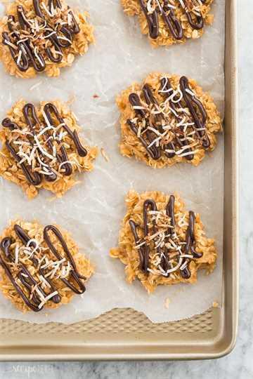 no hornear galletas samoa encima