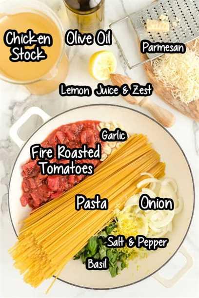Ingredientes One Pot Pasta