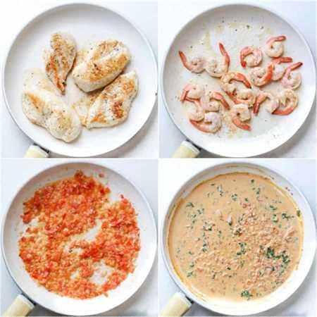 Fotos paso a paso de cómo hacer gambas al ajillo en salsa de vino.
