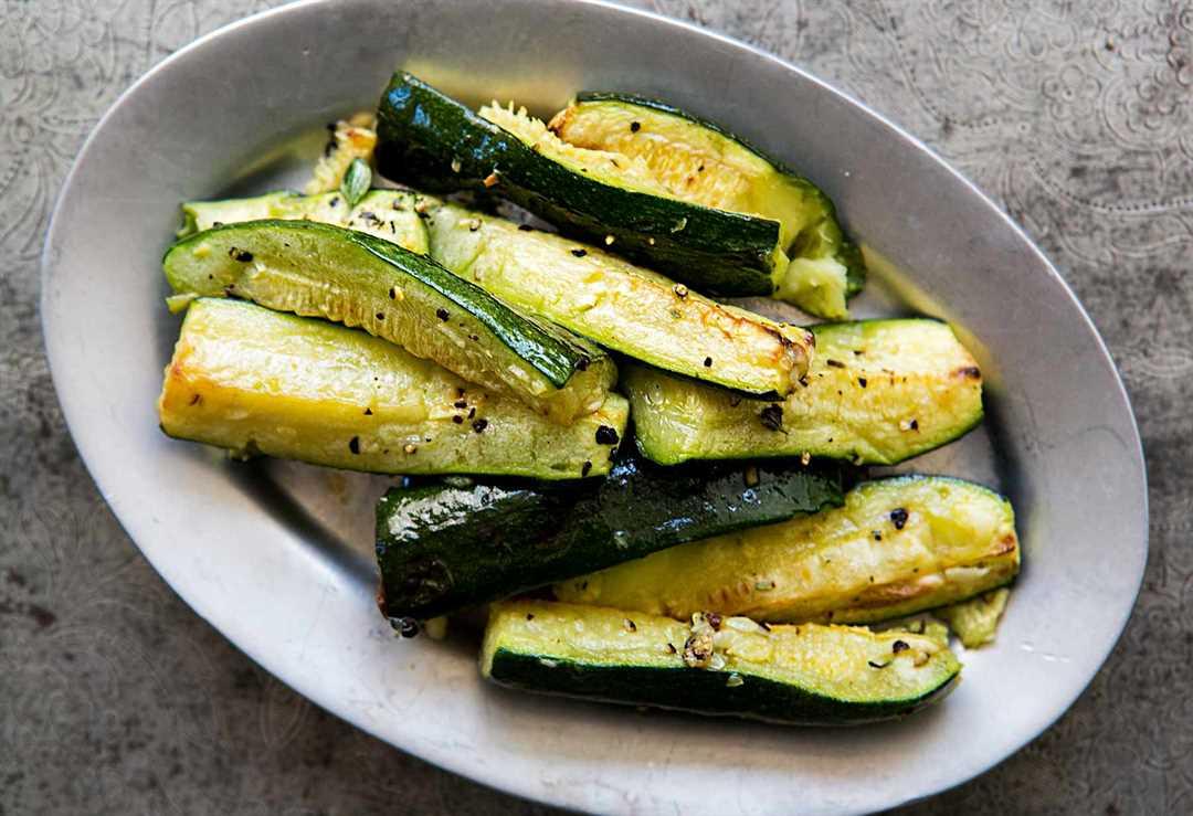 Recetas de calabacín para el verano - Calabacín asado con ajo