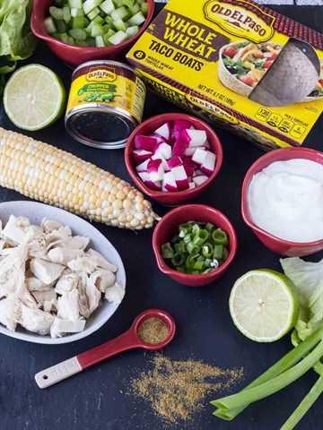 ingredientes de ensalada de pollo con chile verde