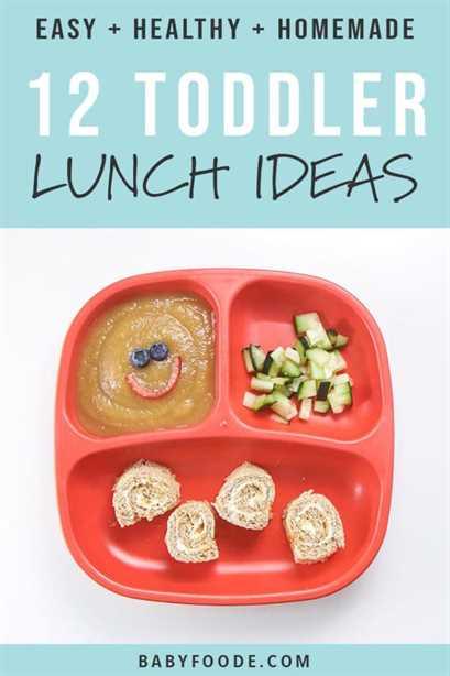 Imagen de Pinterest para una publicación resumida sobre ideas de almuerzos saludables para niños pequeños.