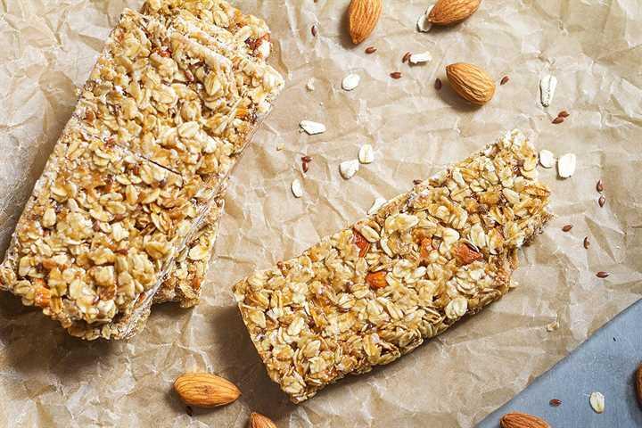 receta casera de barras de granola saludable