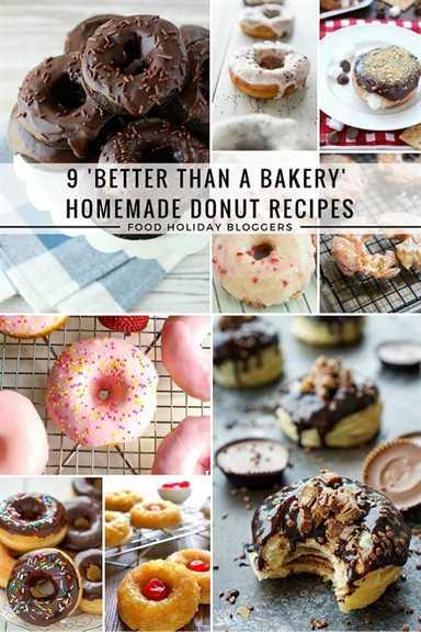 9 mejores recetas de rosquillas caseras que una panadería // Food Holiday Bloggers