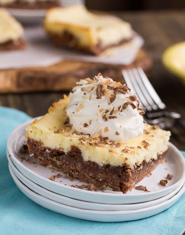 Brownies alemanes de pastel de queso y chocolate