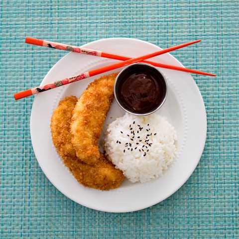 Pollo Katsu (Torikatsu) con Salsa Barbacoa Japonesa (Salsa Tonkatsu)