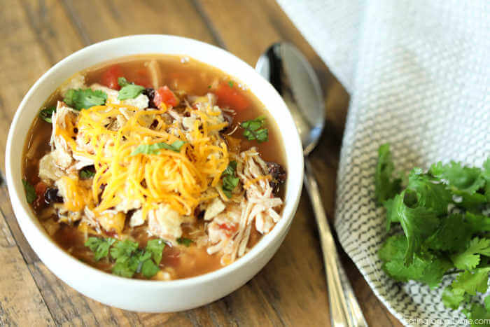 The Crockpot Chicken Tortilla Soup Recipe is the best comfort food and is very easy to make in the slow cooker. The chicken omelette soup recipe can feed a crowd.