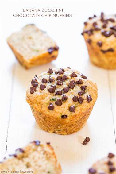 Muffins de plátano y calabacín con chispas de chocolate (vegano): ¡nunca más se quejará de comer sus verduras! ¡Suave, saludable, muy bueno!