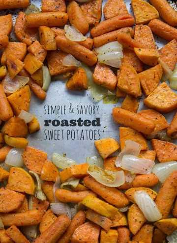 Batatas y zanahorias asadas saladas y simples