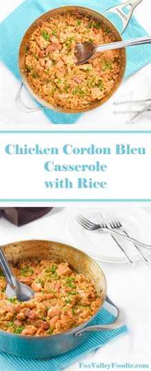 Cazuela de Pollo Cordon Bleu con Arroz