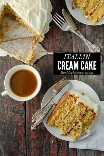 Imagen de título de pastel de crema italiana