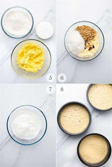 Pastel de crema italiana receta pasos collage 2