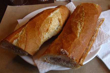 Guía de sandwich español