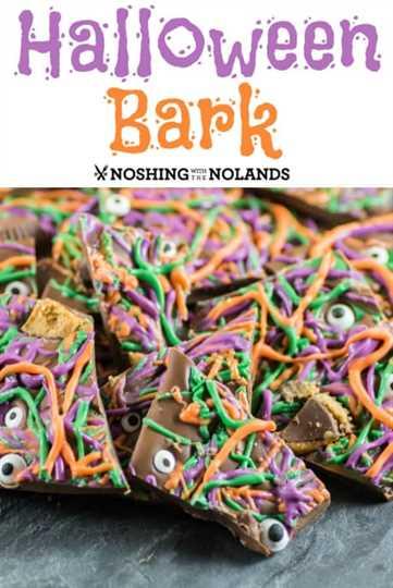Halloween Bark es divertido de hacer y delicioso para comer. #Halloween #bark #candy #trickortreat