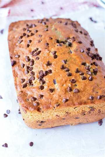 pan de plátano con chispas de chocolate pan lleno