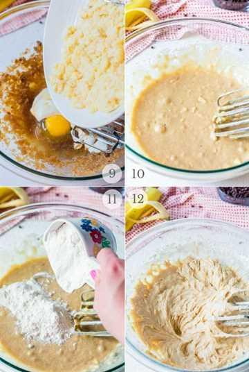 Receta de pan de banana con chispas de chocolate pasos fotos 3