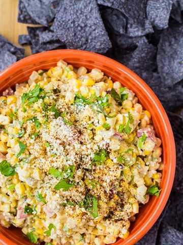 Dip de maíz mexicano flaco