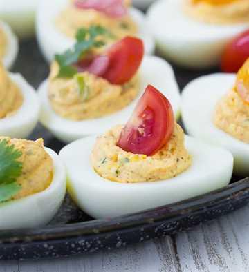 Huevos rellenos del suroeste