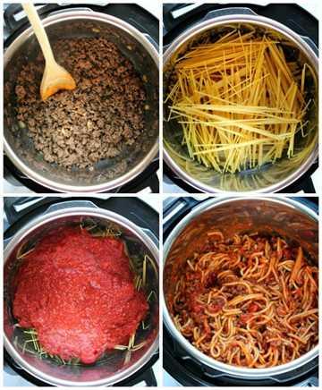 Pasos para hacer Instant Pot Spaghetti Instant Pot Spaghetti Recipe
