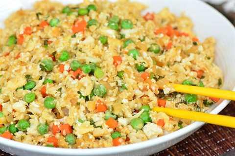 Receta de arroz frito con coliflor
