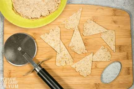 cortar triángulos de tortilla