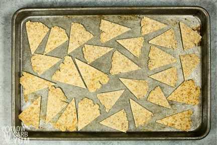 chips bajos en carbohidratos sin hornear