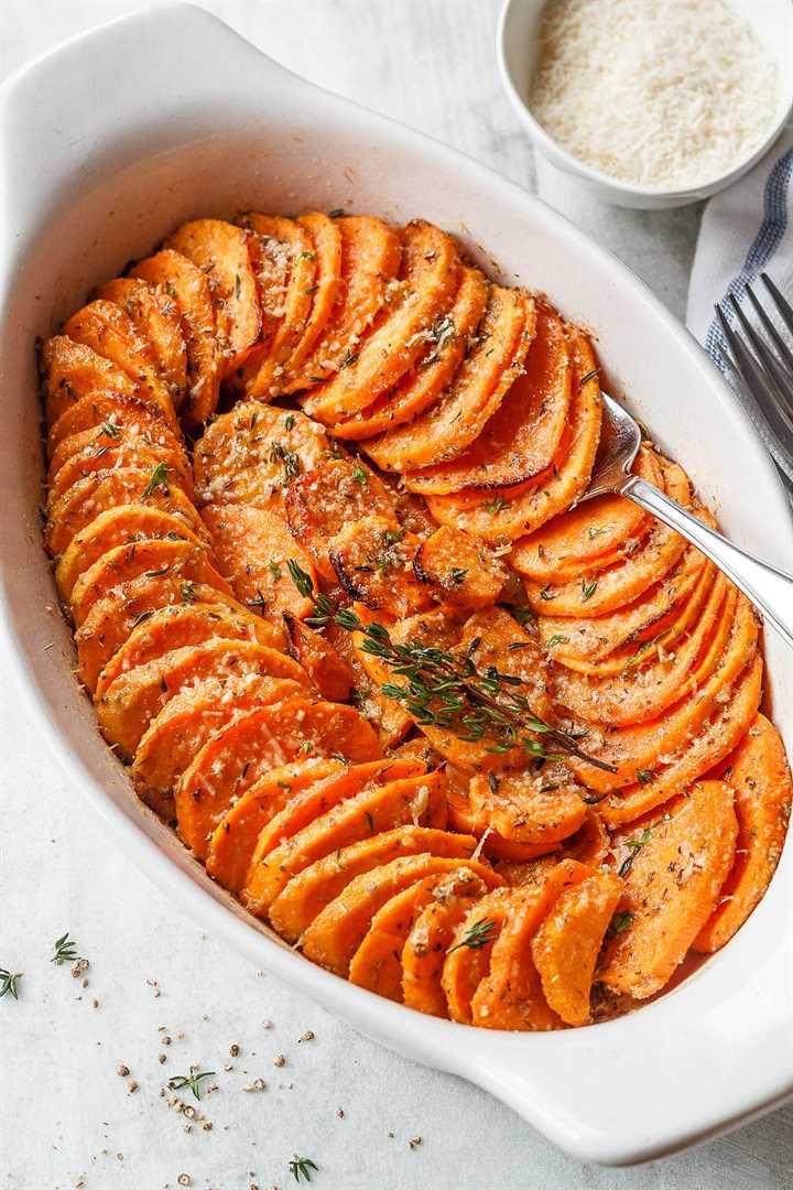 Batatas asadas con parmesano y ajo - # eatwell101 #recipe Tierno, extra-sabroso #Braste dulce asado #Patatas fáciles de hacer.