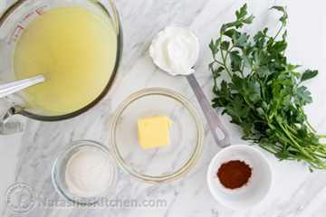 Albóndigas de pollo en salsa de crema-6