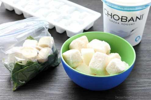 Paquetes de batidos de congelador - yogurt