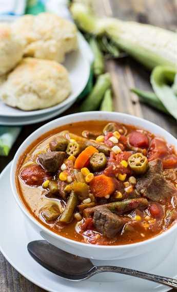 Sopa de carne y verduras: una excelente manera de consumir verduras al final del verano. Se puede congelar y comer una vez que el clima más frío se establece.
