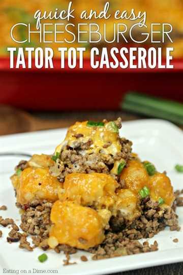 Prueba esta sencilla receta de cazuela de queso de hamburguesa con queso Tator. Una receta Easy Tator tot Casserole que está cargada de queso y llena de sabor.