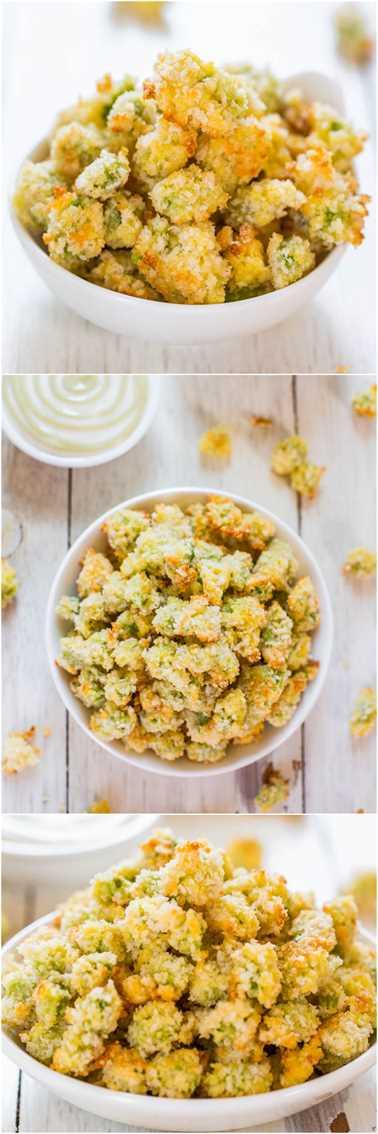 Bocaditos de edamame de parmesano al horno con salsa cremosa de wasabi: ¡lo último en mini alimentos reconfortantes! ¡Querrás inhalar todo el lote!