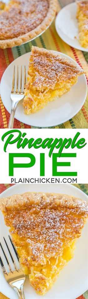Pastel de piña - Pastel de ajedrez de coco y piña: ¡tan fácil y sabe fantástico! ¡Ideal para fiestas y comidas compartidas! Piña triturada, coco, mantequilla, harina de maíz, harina, vainilla, azúcar y huevos. Puede servir caliente o frío con crema batida o helado de vainilla. ¡Nunca quedan sobras! ¡Tan bueno! #pie #dessert #pineapple #dessertrecipe