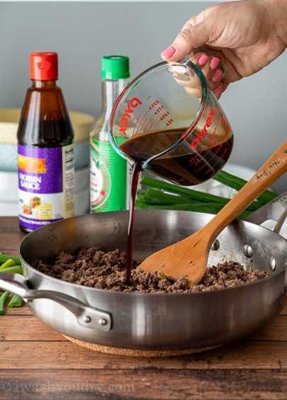 Receta de carne mongol fácil