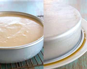Foto collage del flan de coco que se está haciendo