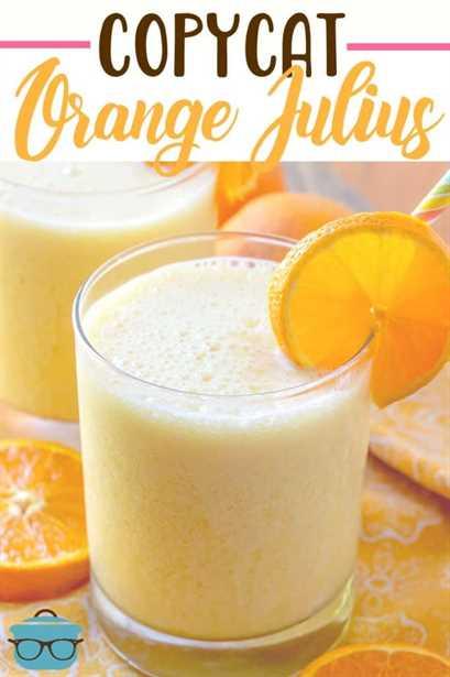 Copycat Orange Julius receta de The Country Cook