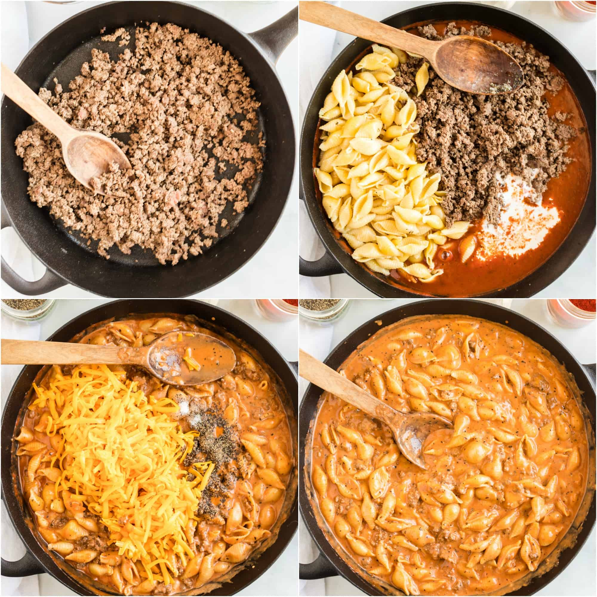 Cómo hacer carne y conchas