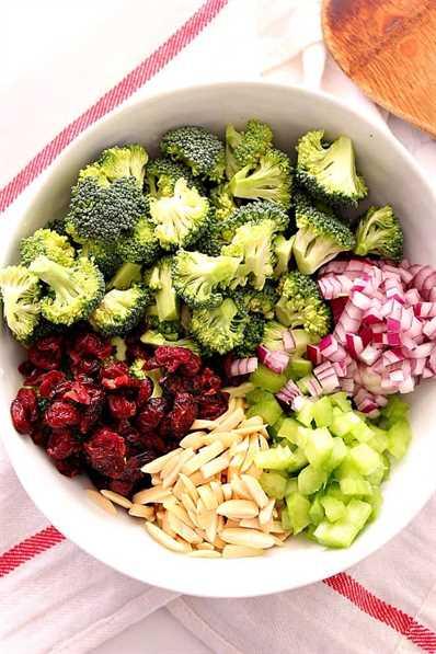Ensalada de brócoli fácil 1 Ensalada de brócoli fácil