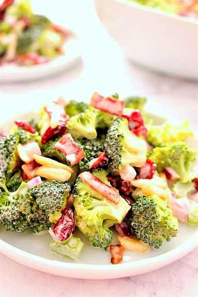 receta fácil de ensalada de brócoli Ensalada fácil de brócoli