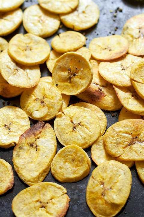 receta saludable de chips de plátano