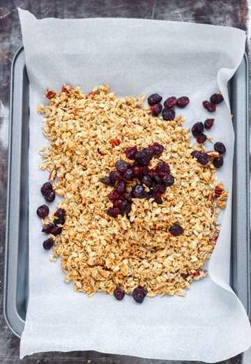 Cómo hacer racimos de granola