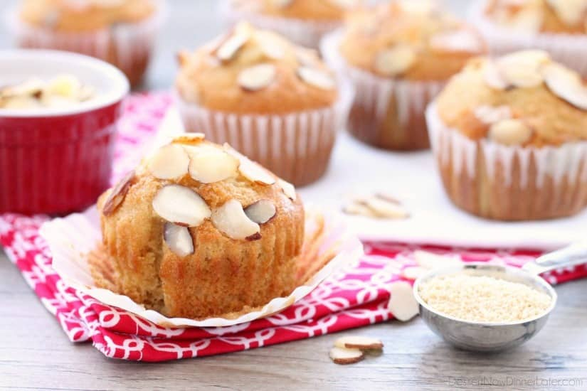 C&H® Almond Extract and Honey Granules flavor these easy and slightly sweet breakfast cupcakes.