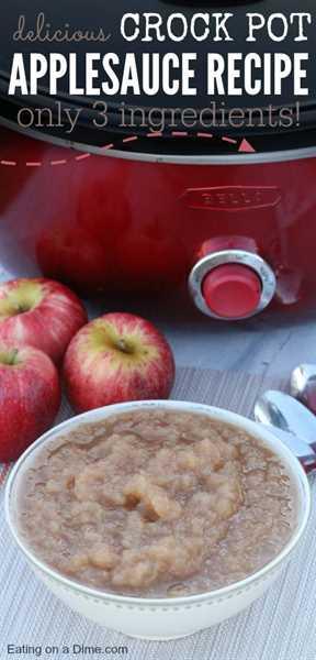 receta de puré de manzana con tres ingredientes