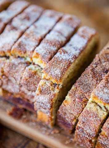 Corteza de canela y azúcar Pan de canela y cinta averiecooks.com