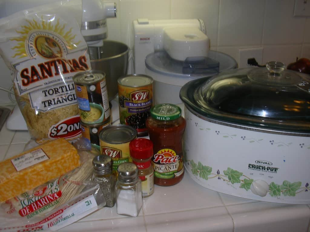 Sopa de pollo y tortilla
